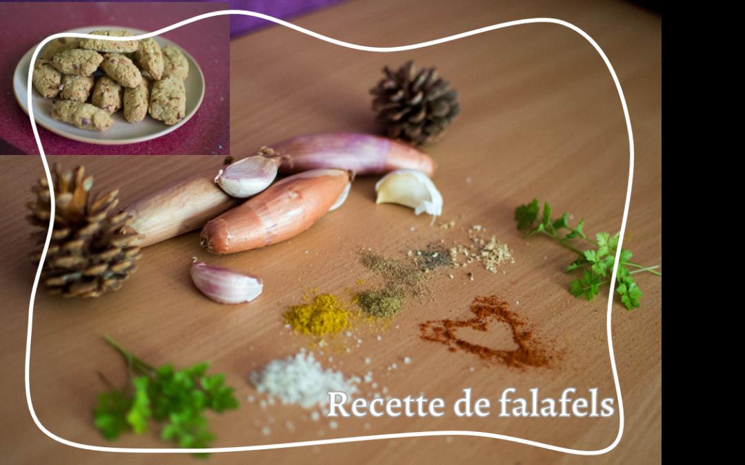 J'essaie de cuisiner différemment, en faisant des falafels (végétarien/végétalien)