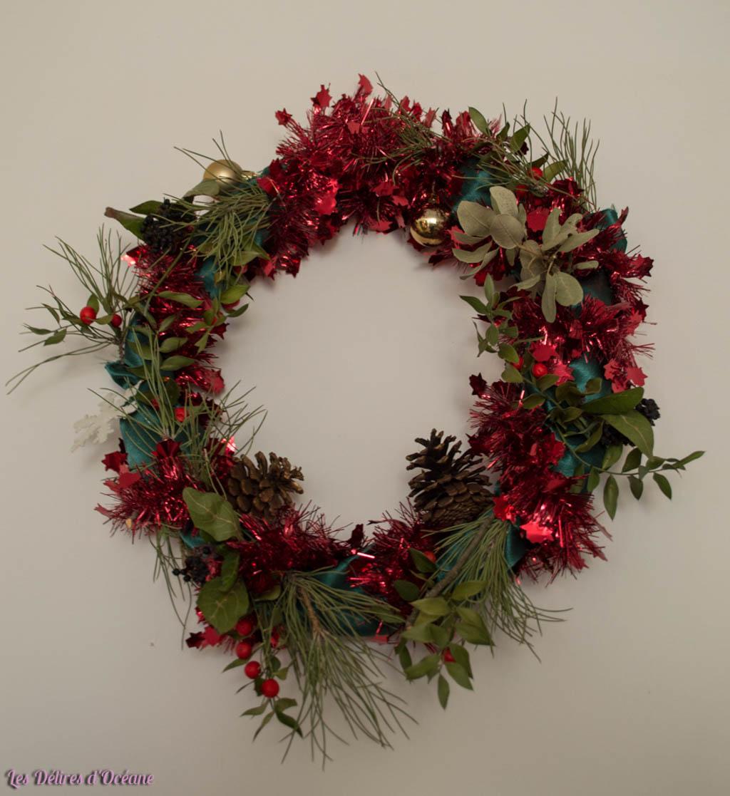 fabriquer sa couronne de Noël DIY