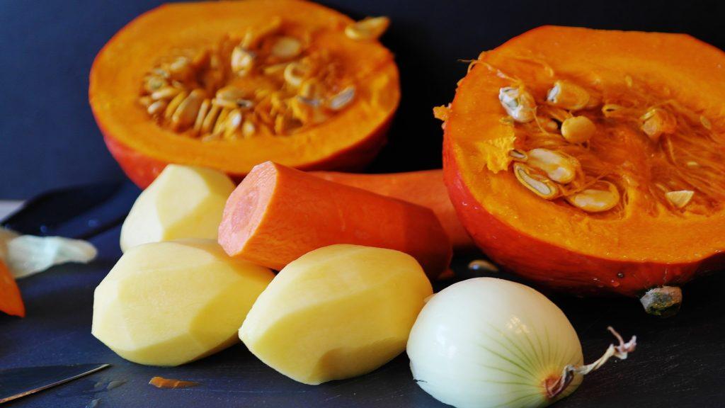 ingrédients pour un velouté de saison légumes d'automne