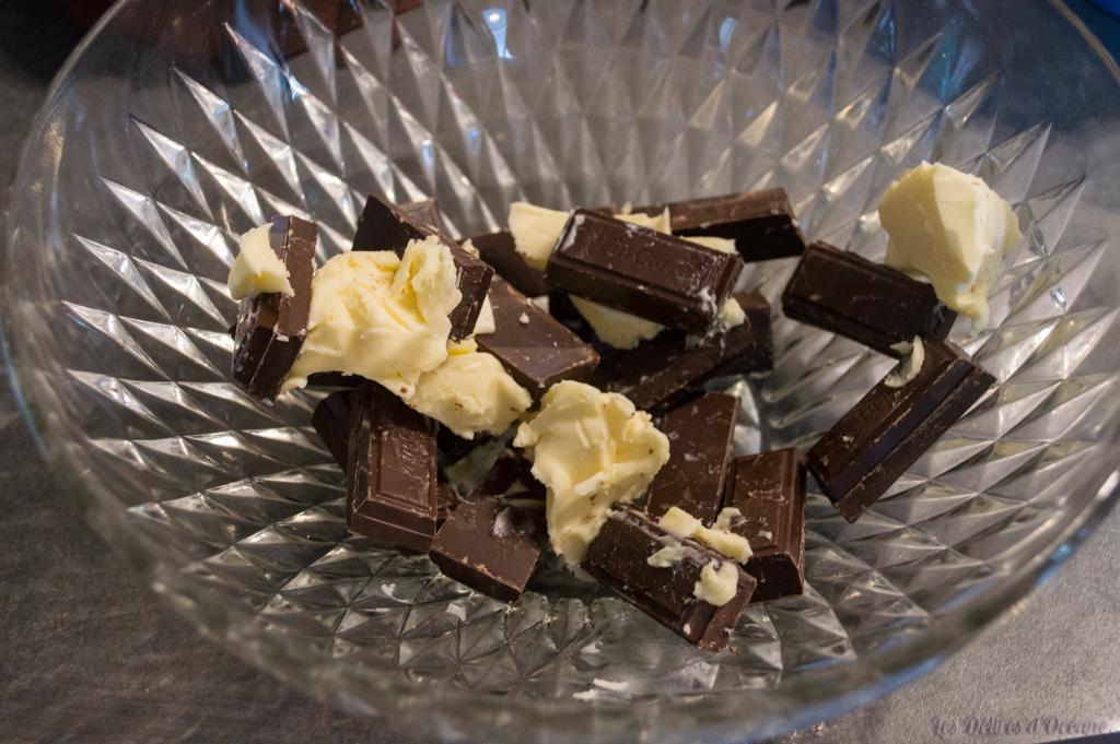 étapes de recette de cuisine crinkles praline tout chocolat